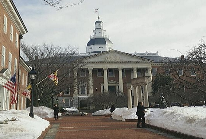 Statehouse after Snow